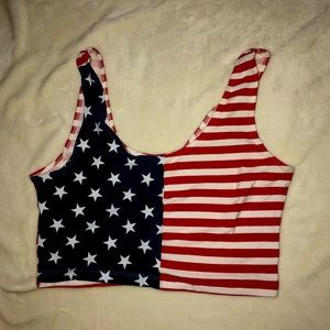 American Apparel sz large USA crop top